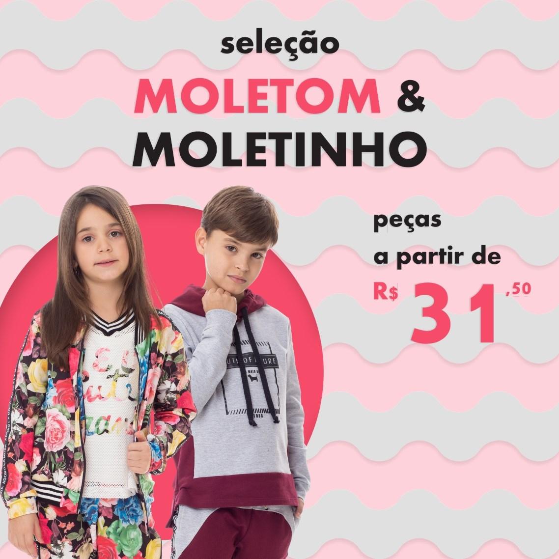Conheça nossa seleção especial de Moletom & Moletinho