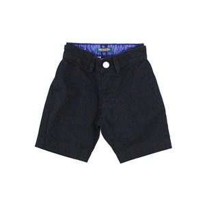 Bermuda De Sarja Infantil Masculina - 1+1 Preto