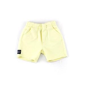 Bermuda Infantil / Baby Masculina Em Moletom - 1+1 Amarelo Canario