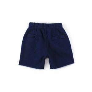 Bermuda Infantil / Baby Masculina Em Moletom - 1+1 Marinho