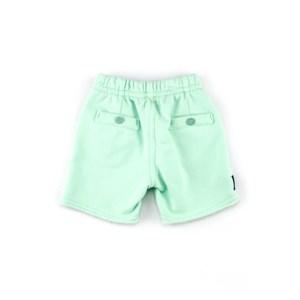 Bermuda Infantil / Baby Masculina Em Moletom - 1+1 Verde Menta