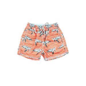 Bermuda Infantil / Baby Masculina Em Nylon Peletizado - 1+1 Laranja Escuro