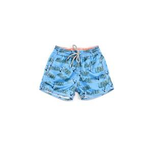 Bermuda Infantil / Baby Masculina Em Nylon Peletizado - 1+1 Turquesa