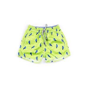 Bermuda Infantil / Baby Masculina Em Nylon Peletizado - 1+1 Verde