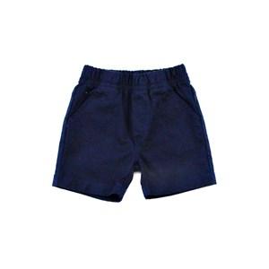 Bermuda Infantil / Baby Masculina Sarja Com Lycra - 1+1 Marinho