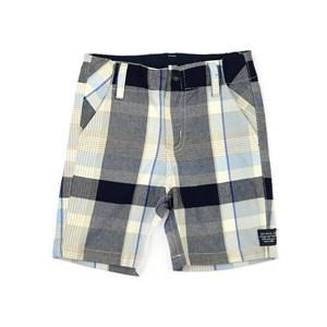 Bermuda Infantil / Kids Em Xadrez - Um Mais Um Azul Jeans