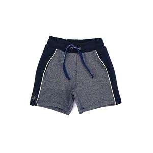 Bermuda Infantil/Kids Masculino Em Canelado Dublado - Um Mais Um Azul Jeans