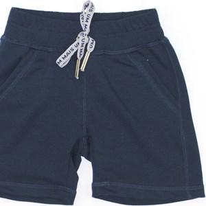Bermuda Infantil/Kids Masculino Em Moletinho De Viscose Com Lycra - Um Mais Um Marinho