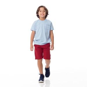 Bermuda Infantil/Kids Masculino Em Moletinho De Viscose Com Lycra - Um Mais Um Vinho