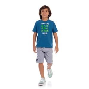 Bermuda Infantil Masculina Azul