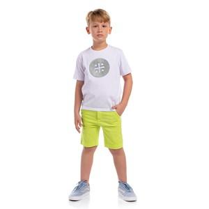 Bermuda Infantil Masculina Cores Lisas Verde