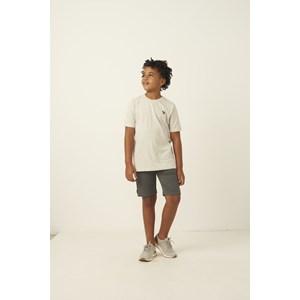 Bermuda infantil masculina em moletinho cos elastico e bolso faca MESCLA CLARO