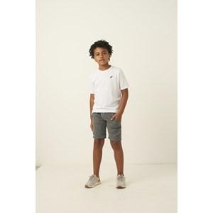 Bermuda infantil masculina em moletom cos elastico e bolso faca CINZA ESCURO