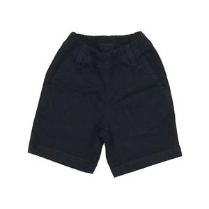 Bermuda infantil masculina em sarja com cos de elastico Marinho