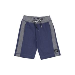 Bermuda Infantil / Teen Em  Moletom Sem Felpa C/Deltalhes Canelado Dublado - Two Azul Jeans