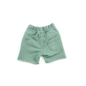 Bermuda Masculina Infantil / Baby Em Moletom Sem Felpa - Um Mais Um Verde