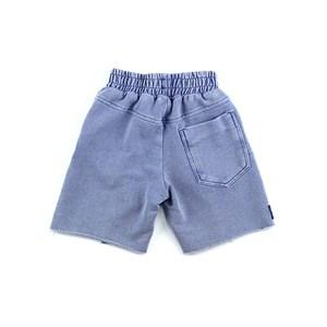 Bermuda Masculina Infantil / Kids Com Cadarço Em Moletom Sem Felpa - 1+1 Azul Jeans
