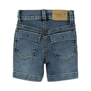 Bermuda Masculina Infantil / Kids Em Jeans Moletom Malha - Um Mais Um Stone