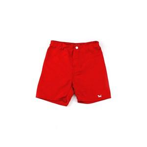 Bermuda Masculina Infantil / Kids Em Nylon Tactel - Um Mais Um Vermelho