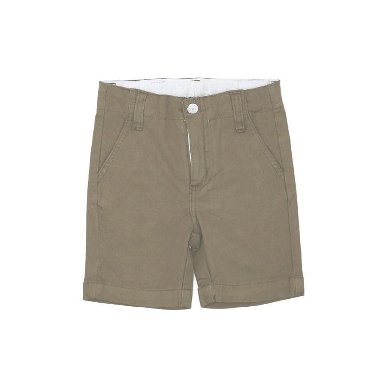 Bermuda Masculina Infantil / Kids Em Sarja Com Lycra - Um Mais Um Caqui