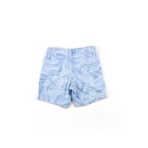 Bermuda Masculina Infantil / Kids Em Sarja Listrada - Um Mais Um Azul Claro