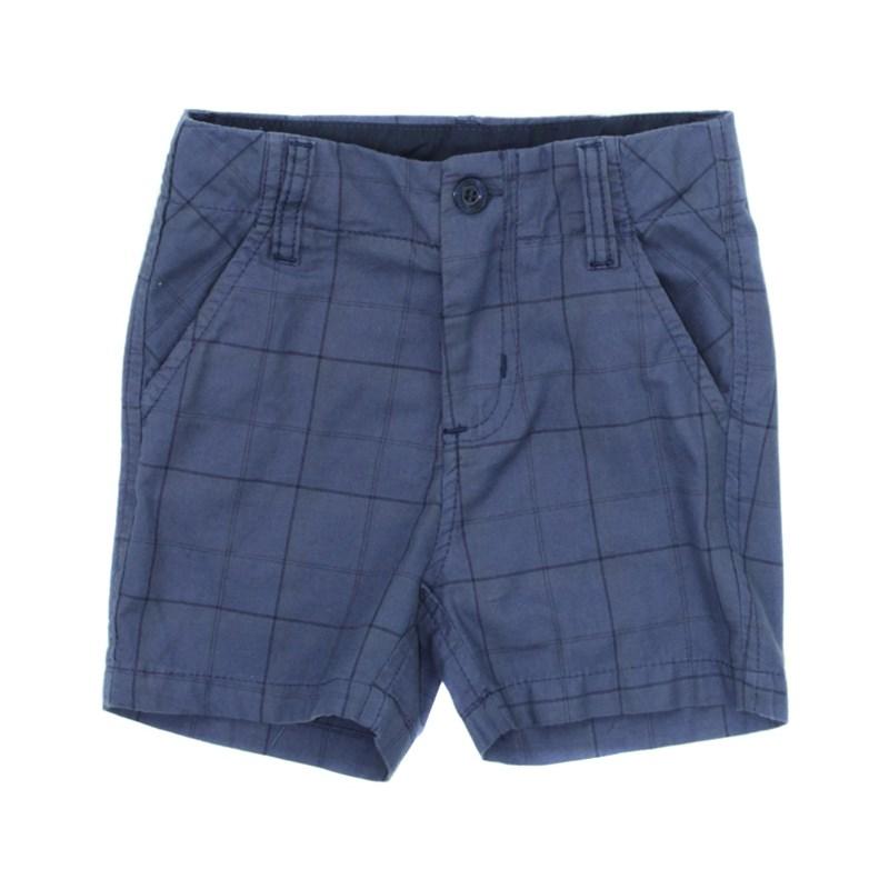 - Bermuda Masculina Infantil / Kids Em Sarja Peletizada Com Tricoline - Um Mais Um Azul Jeans