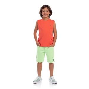 Bermuda Masculina Infantil Verde Neon               Fluor