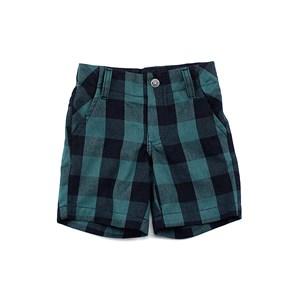 Bermuda Masculina Xadrez Infantil / Kids Em Tricoline - 1+1 Verde