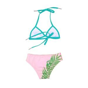 Biquini Infantil Com Estampa Tropical Rosa Claro