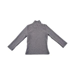 Blusa Canelada Infantil Feminina Com Lycra - 1+1 Mescla Claro