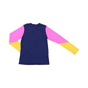 Blusa De Proteção Femeninina Infantil Colorida Marinho