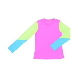 Blusa De Proteção Femeninina Infantil Colorida Pink