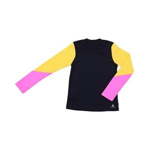 Blusa De Proteção Femeninina Infantil Colorida Preto