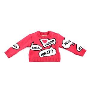 Blusa De Tricot Feminina Infantil / Baby Com Estampas Em Fio Seridó - 1+1 Pink