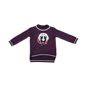 Blusa De Tricot Feminina Infantil / Kids Com Estampa Frontal Em Entretela De Malha - 1+1 Vermelho