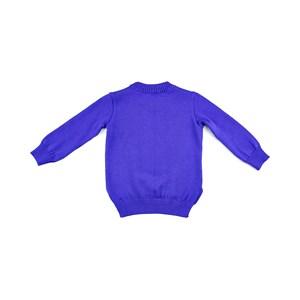 Blusa De Tricot Infantil Feminina Com Bordados Variados E Apliques De Latejoula Dupla Face  - 1+1 Royal