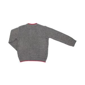 Blusa De Tricôt Infantil / Kids Produzida Em Fio Seridó - Beabá Mescla Claro