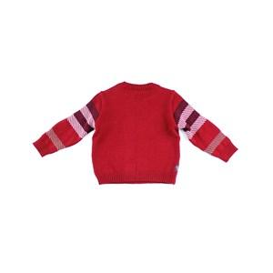 Blusa De Tricot Masculina Infantil / Baby Em Fio Acricotton - Um Mais Um Vermelho