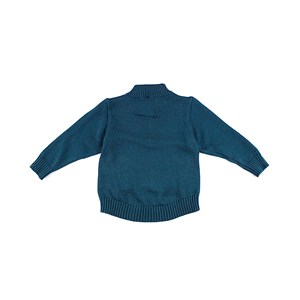 - Blusa De Tricot Masculina Infantil / Kids Com Bolso Em Fio Acricotton - 1+1 Verde