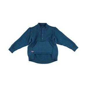 Blusa De Tricot Masculina Infantil / Kids Com Bolso Em Fio Acricotton VERDE