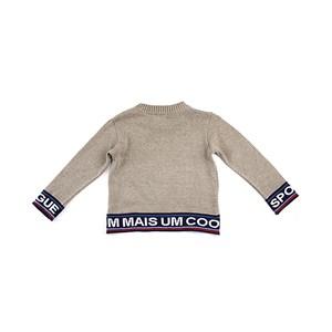 Blusa De Tricot Masculina Infantil / Kids Em Algodão - 1+1 Bege Claro