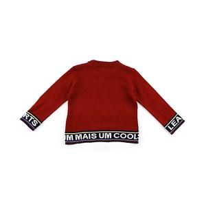 Blusa De Tricot Masculina Infantil / Kids Em Algodão - 1+1 Vermelho