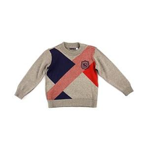 Blusa De Tricot Masculina Infantil / Kids Em Fio Acricotton - 1+1 Bege Claro