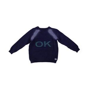Blusa De Tricot Masculina Infantil / Kids Em Fio Acricotton -  1 + 1 Marinho