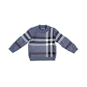 Blusa De Tricot Masculina Infantil / Kids Em Fio Acricotton - 1+1 Preto