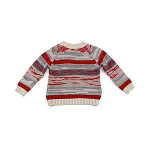 Blusa De Tricot Masculina Infantil / Kids Em Fio Acricotton - 1+1 Vermelho