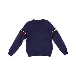 Blusa De Tricot Masculina Infantil / Teen Em Fio Acricotton - Two Marinho