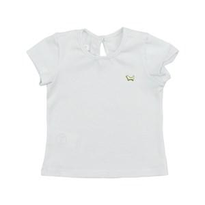 Blusa Feminina Infantil / Baby Em Cotton Alquimia - Um Mais Um Branco