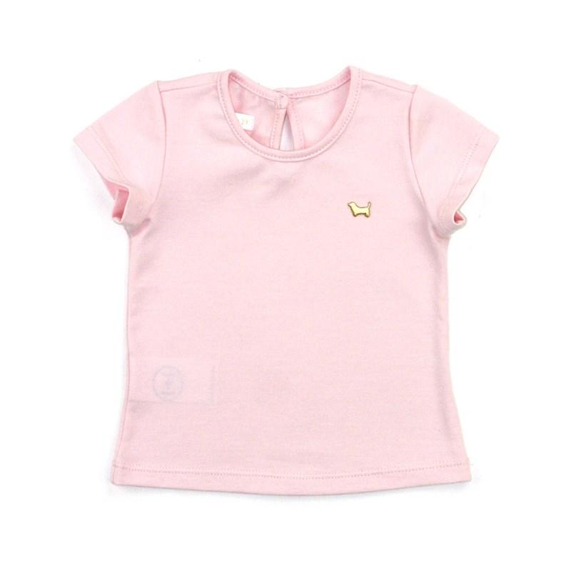 Blusa Feminina Infantil / Baby Em Cotton Alquimia - Um Mais Um Rosa Claro
