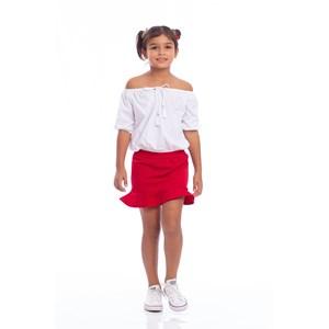Blusa Feminina Infantil Blusa Gipsy Ciganinha Branco